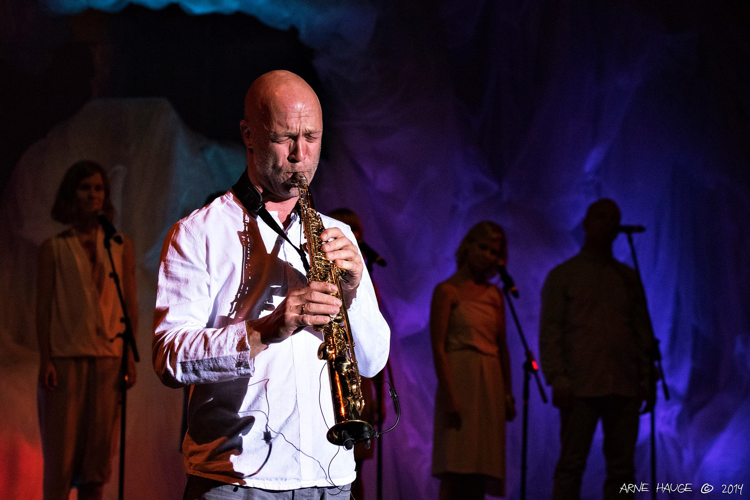 Saksofonist Olav Tornes.